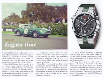 SCALFARO DB4GTZ 1960 SPADA EDITION FEATURED IN OCTANE